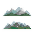 nature mountain silhouette elements setoutdoor vector image