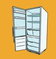 open empty refrigerator vector image vector image