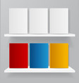 realistic detailed 3d white and color blank vector image vector image