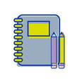 rings notebook tool with pencils icon vector image vector image