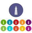 sea beacon icons set color vector image vector image