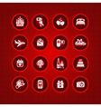set valentines day icons romantic travel vector image vector image