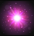 shine cosmic star on transparent background glow vector image