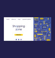 shopping zone delivery discount services banners vector image