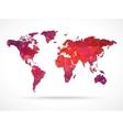 Sparkle diamond world map vector image vector image