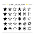 star icon collection vector image vector image