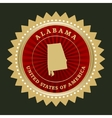 Star label Alabama vector image vector image