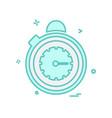 stopwatch icon design vector image vector image