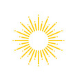 sun rays yellow icon isolated on white background vector image vector image