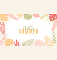 trendy summer banner in simple flat style with vector image