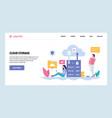 web site gradient design template cloud vector image vector image