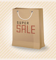 brown shopping paper bag with super sale vector image