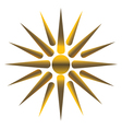 Golden sun vector image