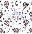 Independence day celebration card 4th July vector image