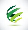 sphere ribbon green vector image
