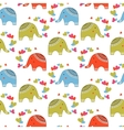 Cute elephants in love pattern Animals print for vector image