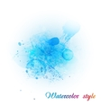 Imitation blue watercolor vector image