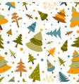 Christmas tree seamless pattern Flat design Colour vector image