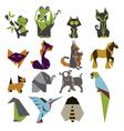 origami mark set vector image