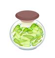 A Jar of Pickled Sweet Peppers with Malt Vinegar vector image vector image