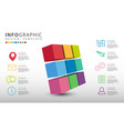 abstract 3d business infographics vector image
