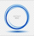 abstract background round blue wavy circle vector image vector image