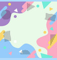 abstract geometric style pastel colors pattern vector image vector image