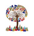 Abstract tree concept vector image vector image