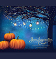 autumn holiday poster vector image vector image