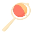 Baby rattle toy icon cartoon style vector image vector image