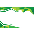 background trangle green vector image vector image