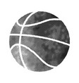basket ball icon in halftone style black vector image vector image