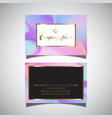 business card with hologram design vector image vector image