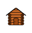 cabin flat icon sign symbol vector image