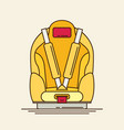 car seat child safety flat vector image vector image