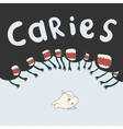 caries surrounds defenseless tooth on all sides vector image vector image