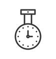 celling clock icon outline design editable stroke vector image vector image
