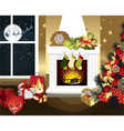 christmas room vector image vector image