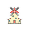 colored linear windmill icon vector image vector image