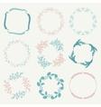 Colorful Hand Sketched Floral Frames vector image vector image