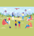 creative business team coworking training outdoor vector image