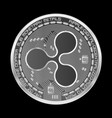 crypto currency ripple silver symbol vector image vector image