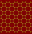 dark red background with beautiful golg ornaments vector image vector image