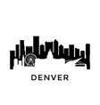 denver city skyline negative space city vector image vector image