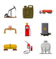 design of oil and gas symbol set of oil vector image