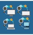 developer web responsive design vector image