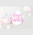 easter day greetings banner vector image vector image