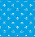 fashion hat pattern seamless blue vector image vector image