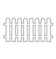 fence icon design vector image