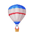 floating hot air balloon as travel and tourism vector image